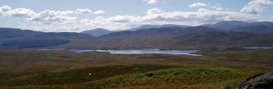 View from the proposed Glenmount site looking south towards Derclach and Finlas Lochs