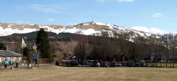 Busy Car Park in Straiton: Easter 2013