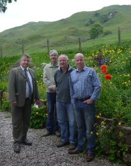 Jim Hume, MSP with Jonathan Meuli, Peter Hadden and Bill Steven