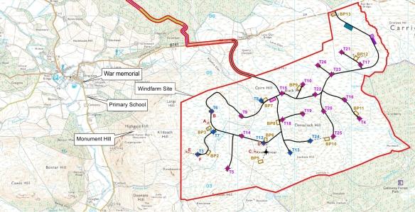 Dersalloch-Straiton-map