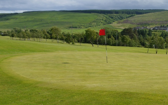 Doon Valley Golf Course with Keirs Hill in background