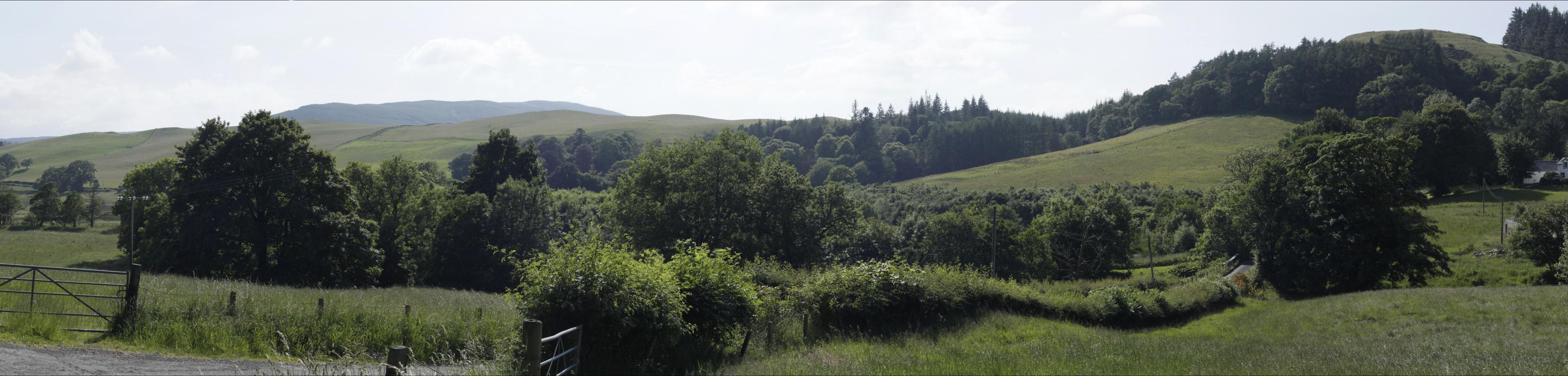 The unspoilt Girvan Valley near Straiton