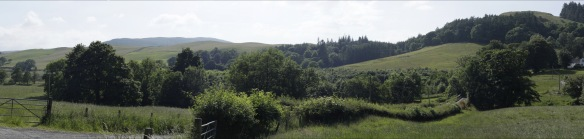 The unspoilt Girvan Valley near Straiton