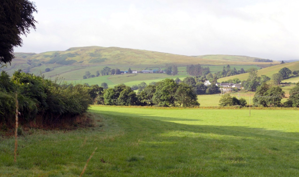 Looking towards Linfairn and Knockcronal Hill